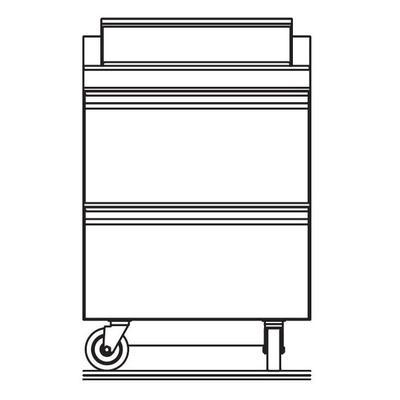 "Delfield STD4427NP-6 27"" Sandwich/Salad Prep Table w/ Refrigerated Base, 115v"