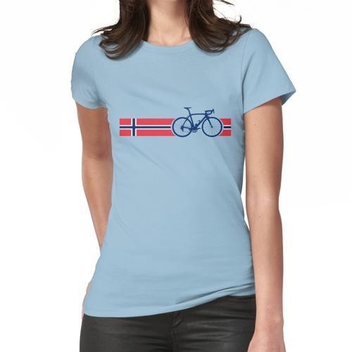 Fahrradstreifen Norwegen Frauen T-Shirt