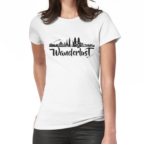 .World Traveller, Fernweh, Traveller Gift, Weltreise Shirt, Globetrotter, Weltreisend Frauen T-Shirt