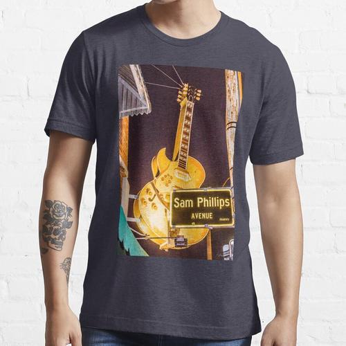 Sun Studio, Memphis, Tennessee, USA, Sam Phillips Allee, Gitarre, Essential T-Shirt