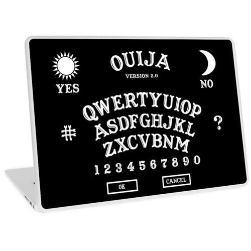 OUIJA BOARD VERSION 2.0 QWERTZ KEYBOARD Laptop Skin