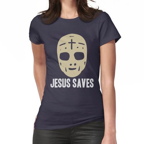 Jesus rettet - Eishockey-Wortspiel Frauen T-Shirt