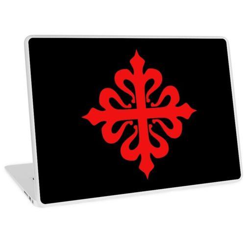 Calatrava Calatrava Kreuz Kreuz rot auf schwarz Laptop Skin