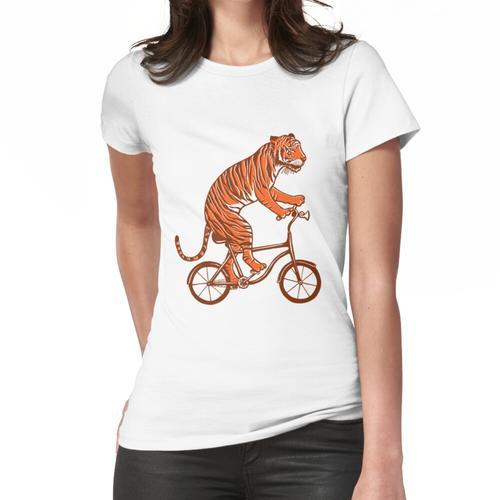 Tiger auf Fahrrad, Tiger auf Fahrrad Frauen T-Shirt