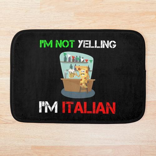 Ich bin Italiener Italien Liebes-Bier-Italien-Pizza Badematte