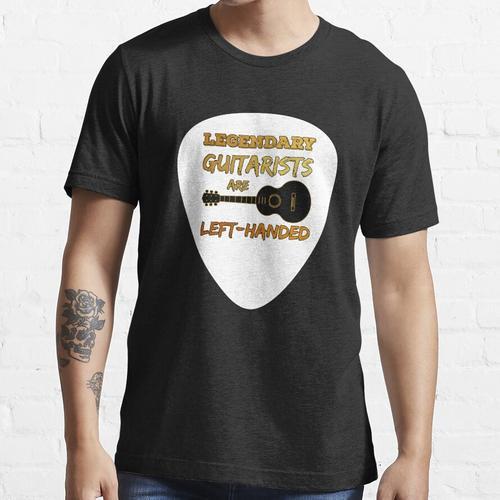Linkshänder Gitarre Plektron Plektrum Gitarrist Gitarrenspieler Essential T-Shirt