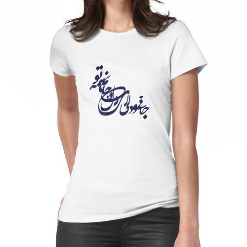 Iranische und Iranische persische Poesie in Farsi Frauen T-Shirt