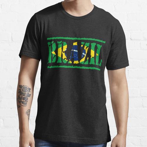 Brasilianische Flagge von Brasilien Brasilianische Flagge von Brasilien Essential T-Shirt