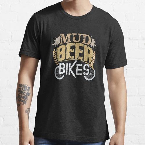 Schlamm-Bier fährt Reiter-Bierliebhaber rad Essential T-Shirt