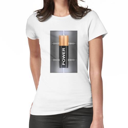 Elektrische Batterie Frauen T-Shirt