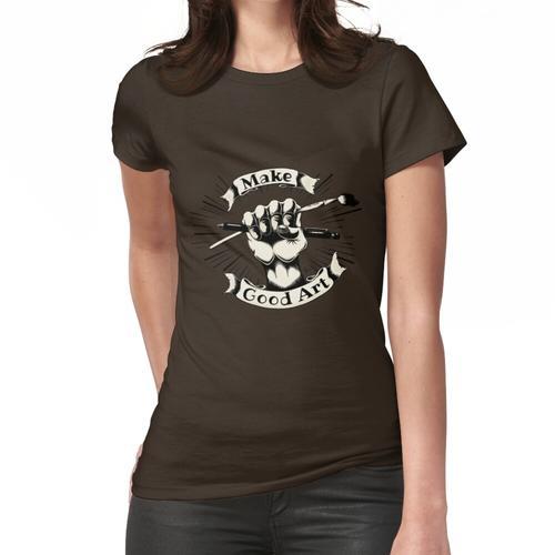 Machen Sie eine gute Art Logo-Creme Frauen T-Shirt