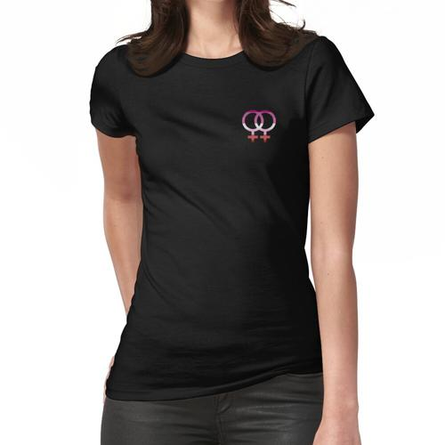 Lesbisches Symbol mit lesbischer Flagge Frauen T-Shirt