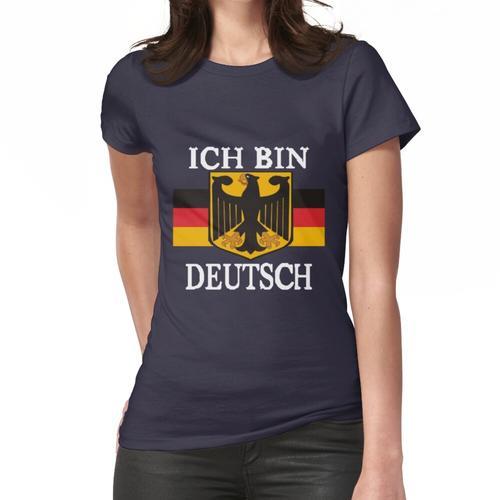 Black Ich Bin Deutsch, deutsches Emblem Frauen T-Shirt