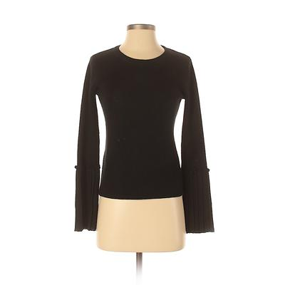 Assorted Brands Pullover Sweater: Black Solid Tops - Size X-Small