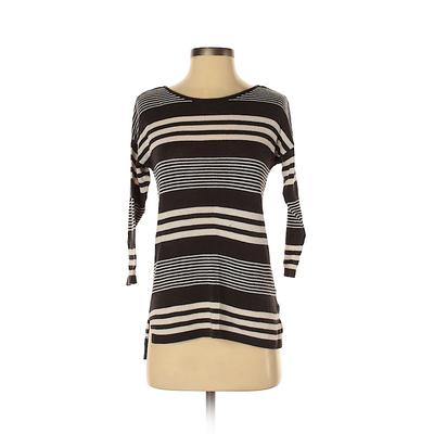 Old Navy Pullover Sweater: Black Stripes Tops - Size X-Small