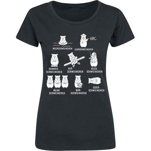 Meerschweinchen Damen-T-Shirt - schwarz