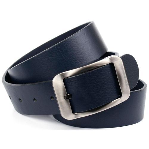 Anthoni Crown Ledergürtel, Hochwertiger Denim-Gürtel blau Damen Ledergürtel Gürtel Accessoires