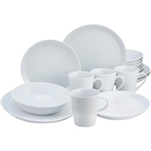 CreaTable Kombiservice TRENDY, (Set, 16 tlg.) weiß Geschirr-Sets Geschirr, Porzellan Tischaccessoires Haushaltswaren