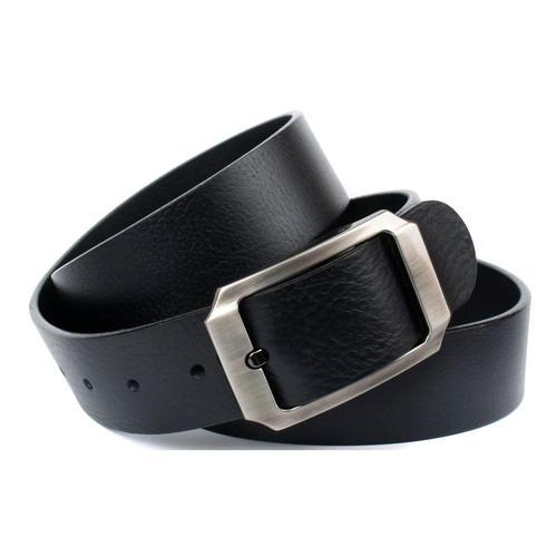 Anthoni Crown Ledergürtel, mit satinierter Schließe schwarz Damen Ledergürtel Gürtel Accessoires
