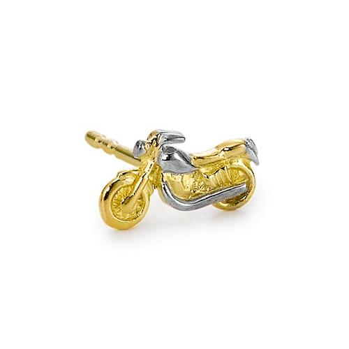 Ohrstecker 1 Stk 375/9 K Gelbgold Motorrad
