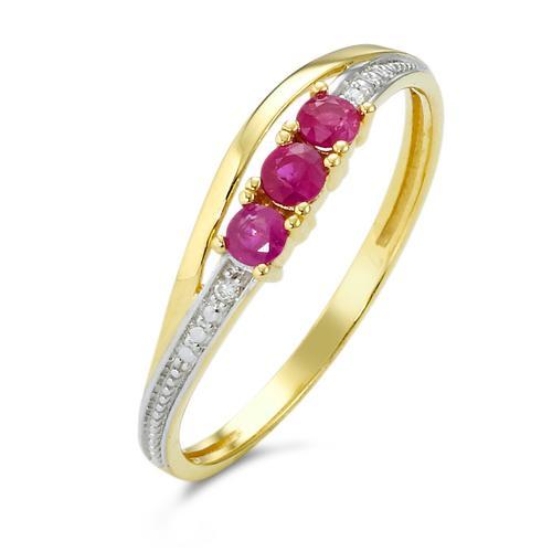 Ring Gold 750 Rubin/Diamanten