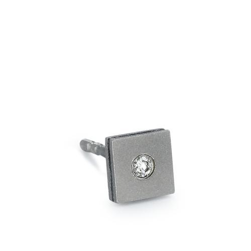 Ohrstecker 1 Stk Titan Diamant 0.02 ct