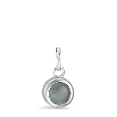 Anhänger Silber Aventurin rhodiniert Ø8 mm