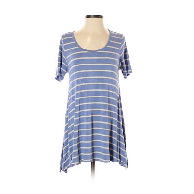 Lularoe Short Sleeve T-Shirt: Blue Stripes Tops - Size 2X-Small