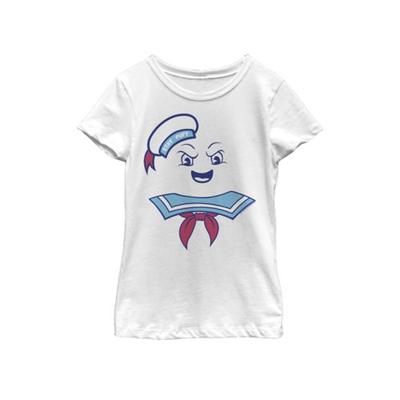 Ghostbusters White Girls 7-16 Stay Puft Marshmallow Man Costume Short Sleeve Graphic T-Shirt