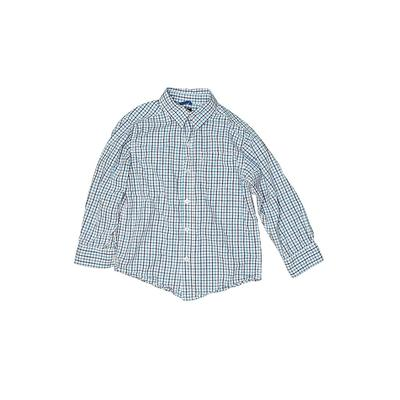 The Children's Place Long Sleeve Button Down Shirt: Blue Tops - Size 5
