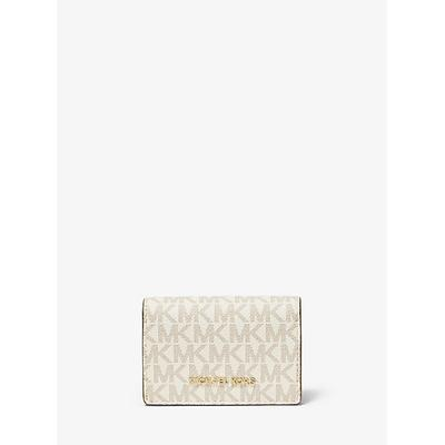 Michael Kors Small Logo and Leather Wallet Natural One Size
