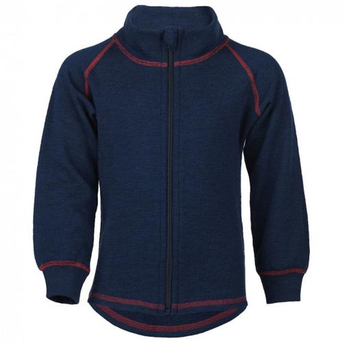 Engel - Kinder-Zip-Jacke Mit Kinnschutz - Wolljacke Gr 128 blau/schwarz