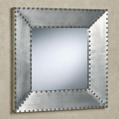Decca Wall Mirror Pewter , Pewter