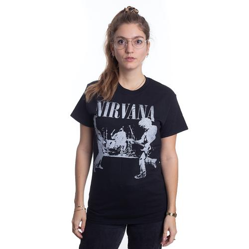 Nirvana - Acoustic Silhouette - - T-Shirts