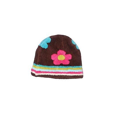 Carter's Beanie Hat: Brown Strip...