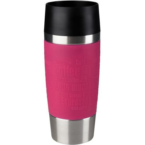 Emsa Thermobecher Travel Mug, 360 ml rosa und Coffee to go Geschirr, Porzellan Tischaccessoires Haushaltswaren