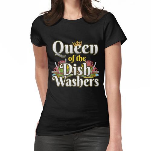 Königin der Geschirrspülmaschinen-lustige Spülmaschine Mom Design Frauen T-Shirt