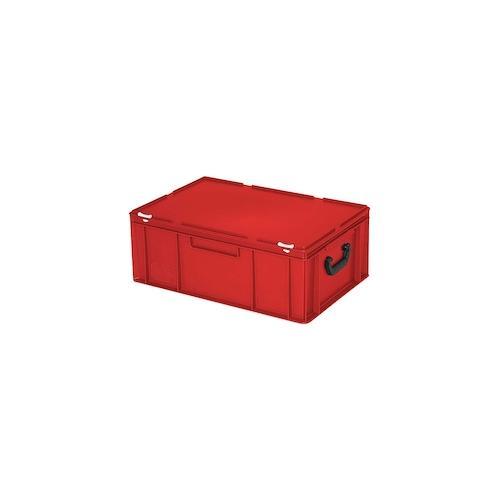 Kunststoffkoffer/Eurokoffer, Industriequalität, rot, LxBxH 600 x 400 x 230 mm