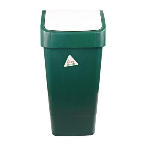 SYR Abfalleimer mit Schwingdeckel grün 50L