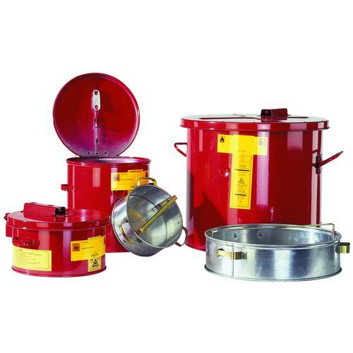 ASECOS Wasch- und Tauchbehälter St.bl. vz.+besch. Rot V=30 L, ØxH 397x362