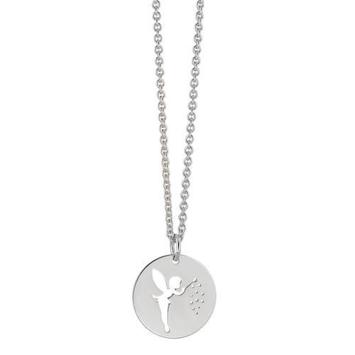 Halskette mit Anhänger Silber Fabelwesen 42-47 cm verstellbar Ø15 mm