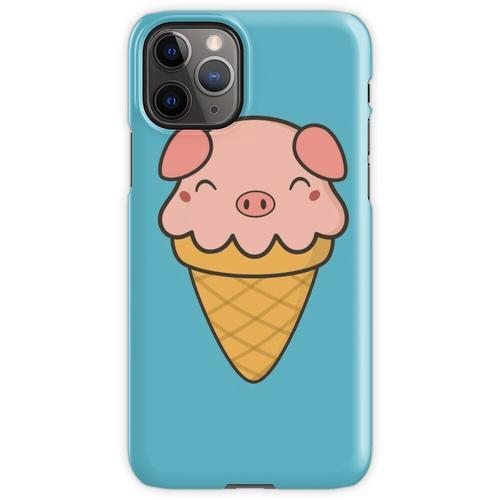 Appetitanregende Kawaii Cute Pig Ice Cream iPhone 11 Pro Handyhülle
