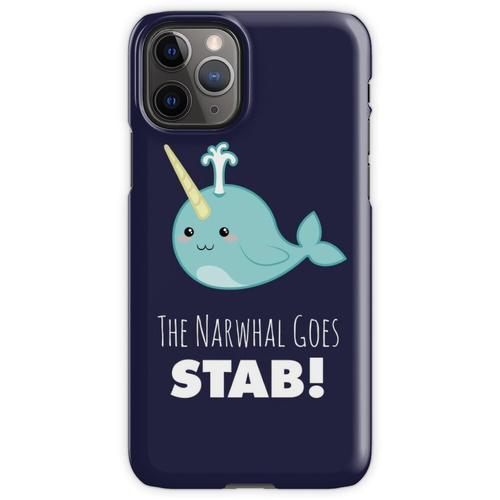 Narwal Shirt, Narwal geht Stich, Kawaii Narwal, niedliche Narwal, Narwal Ge iPhone 11 Pro Handyhülle
