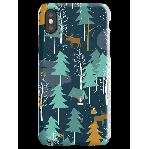 Wintercamping iPhone XS Handyhülle