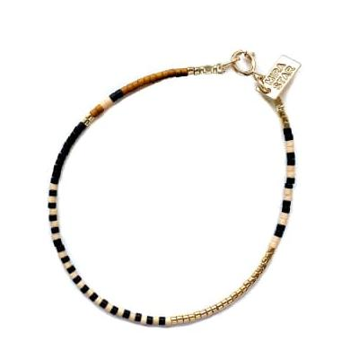 Mira Star - Bracelet Juno with 24k Gold-plated Glass Beads - Blush Pink - pink - Pink/Pink