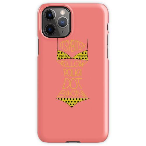 Gelber Polka Dot Bikini! iPhone 11 Pro Handyhülle