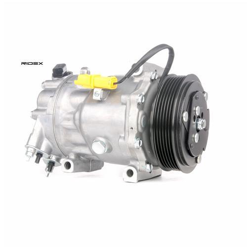 RIDEX Kompressor CITROËN,PEUGEOT 447K0036 6453TP,6453YE,6453YF Klimakompressor,Klimaanlage Kompressor,Kompressor, Klimaanlage 6453ZV,648734,648735