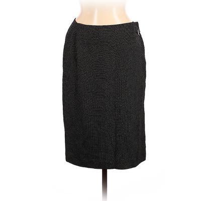 Nordstrom Casual Skirt: Black Print Bottoms - Size 8