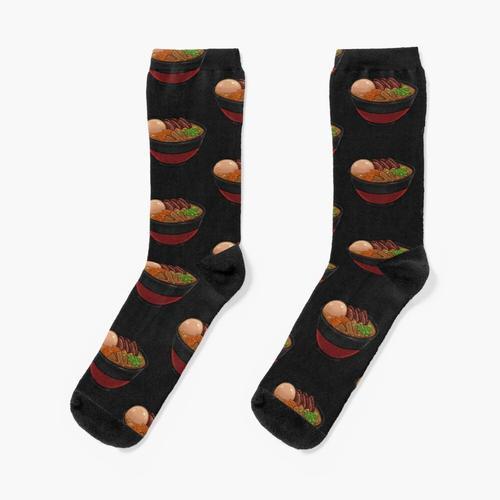 Schüssel Ramen Socken