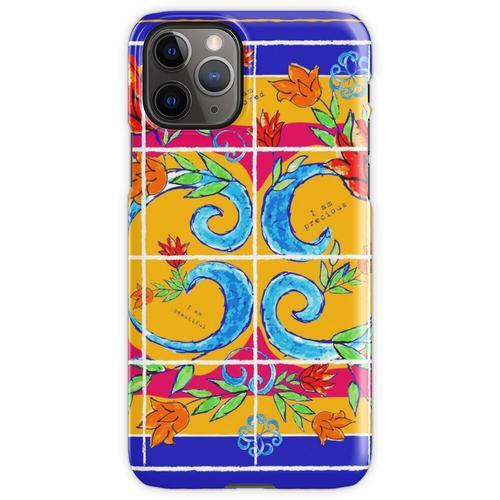 Majolika-Fliesen, Majolika-Design, Majolika Italien iPhone 11 Pro Handyhülle